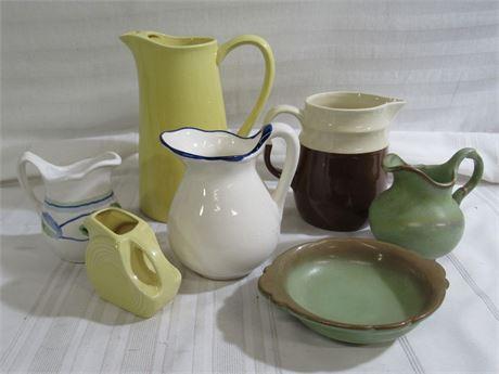 7 Piece Misc. Pottery Lot - Frankoma, Fiesta, Estes Park