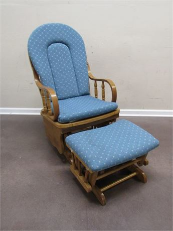 COASTER CO. OF AMERICA ROCKING CHAIR WITH FOOT STOOL