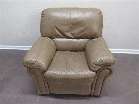 LARGE ETHAN ALLEN LEATHER RECLINER