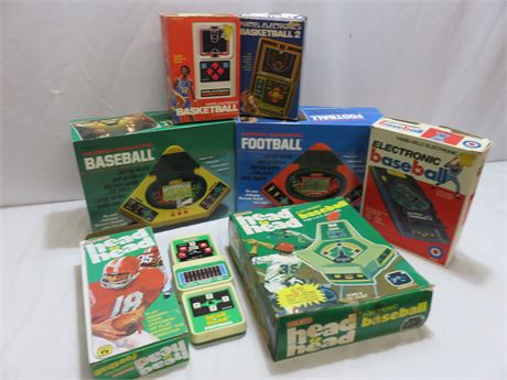 Vintage Handheld Electronic Sports Games