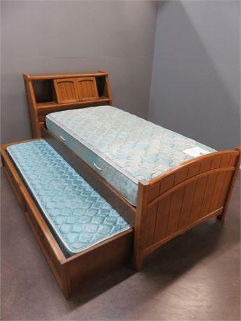 STANLEY FURNITURE Oak Trundle Bed