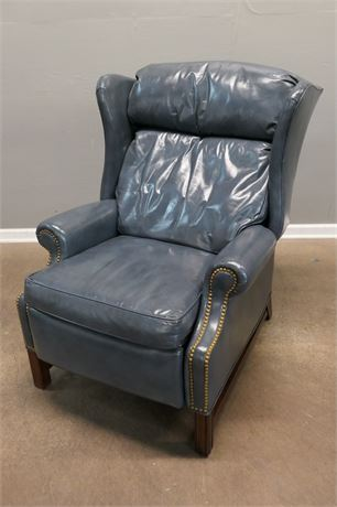 Plush Leather Recliner by Leather Craft