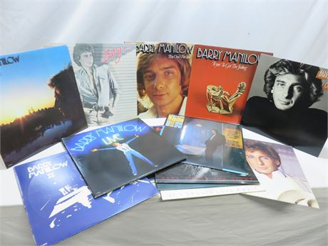 Vintage BARRY MANILOW Record Album Lot