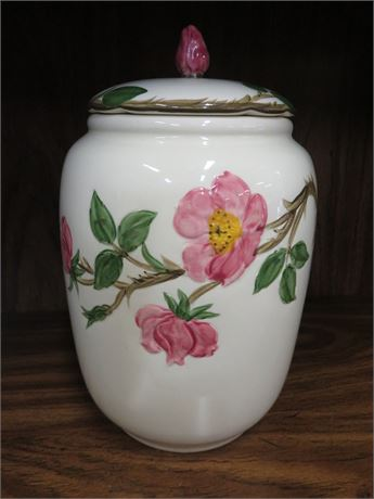 FRANCISCAN Desert Rose Ceramic Cookie Jar
