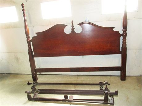 BEAUTIFUL KING HEADBOARD AND BED FRAME