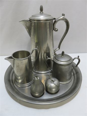 6-Piece Pewter Lot