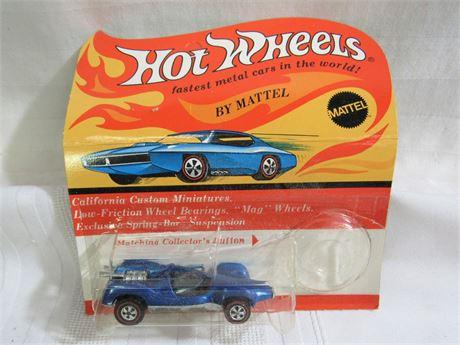 1970 Mattel Hot Wheels RedLine - Blue Mantis - NIP