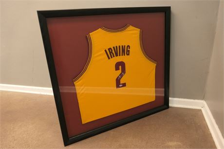 Framed Kyrie Irving Autographed Jersey, Cleveland Cavaliers 2011-2017