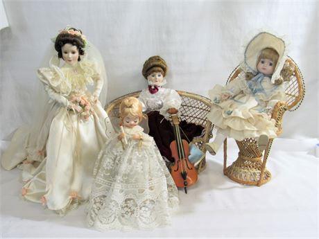 4 Piece Doll Lot