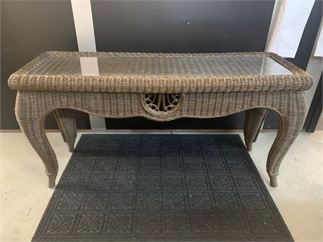 Wicker Sofa Table