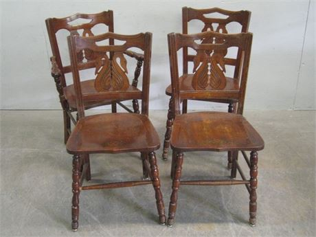 """4 VINTAGE """"SWAN"""" DINING CHAIRS"""