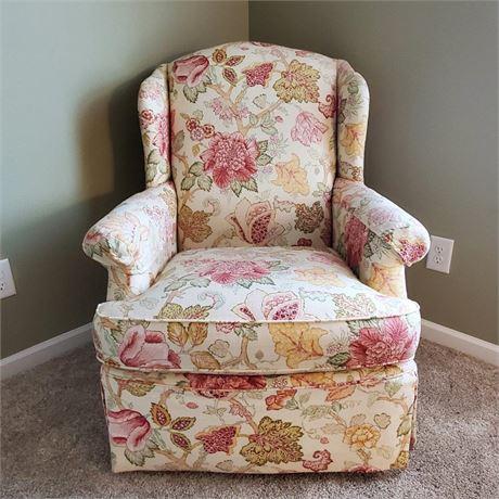 Clayton Marcus Skirted Arm Chair