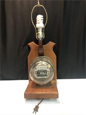 Mid-Century Vintage Electric Meter Lamp