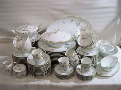 114 PIECE MID CENTURY NORITAKE HELENE CHINA DINNERWARE SET