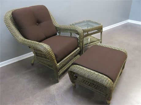 PETITTI'S Premium All-Weather Wicker Chair Set