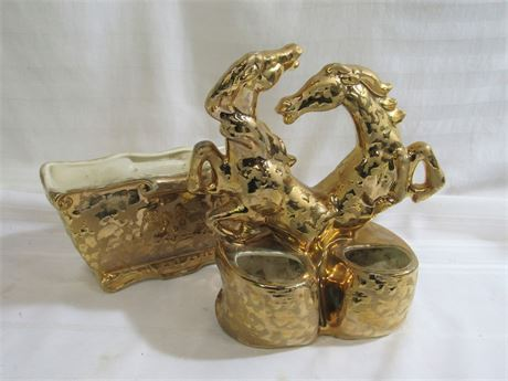 2 - 24KT Weeping Gold Planters