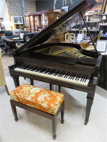Vintage 1923 Marshall & Wendell Baby Grand Piano
