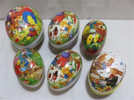 Vintage Cardboard Easter Nesting Eggs