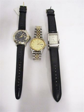 LOT OF MEN'S WATCHES FEATURING BENRUS AND CARAVELLE