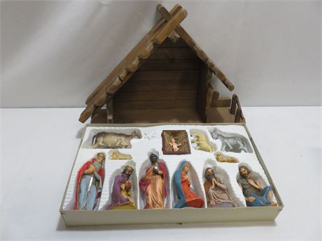 Vintage Krippenfiguren Nativity Set - GERMANY