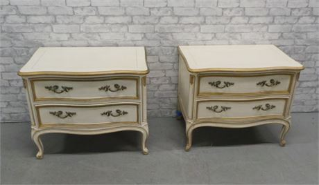2 Henredon French Provincial Bed Side Tables