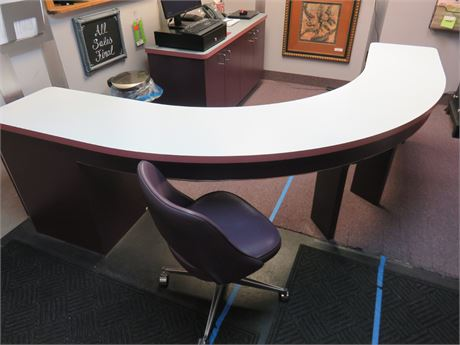 Curved Reception Desk & Chair