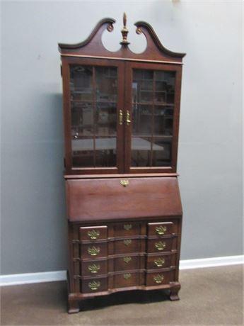 Beautiful Jasper Cabinet Drop-Front Secretary Desk with Hutch