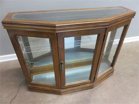 Lighted Console Display Cabinet