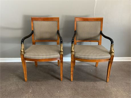 (2) French Empire Arm Chair