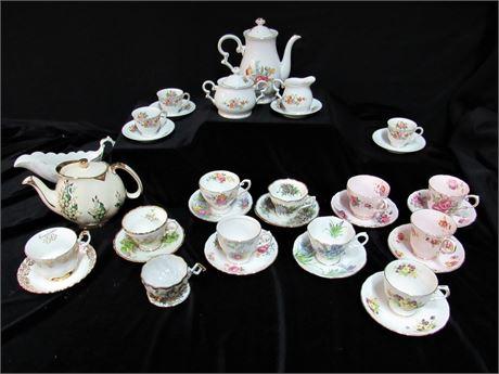 19 Piece Misc. China Teacup/Service Lot