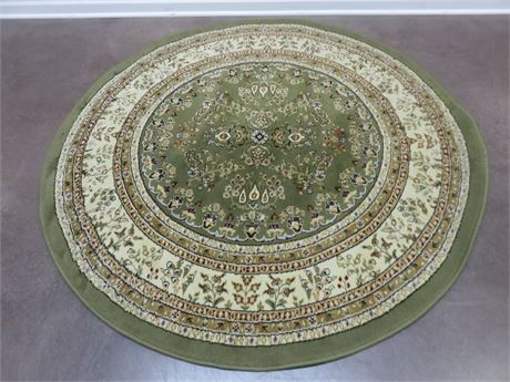SAFAVIEH Lyndhurst Collection Sage/Ivory Round Area Rug