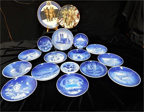 Royal Coppenhagen Porcelain Collector Plates Bing & Grondahl and More