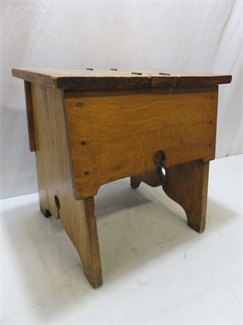 Vintage Shoe Shine Bench