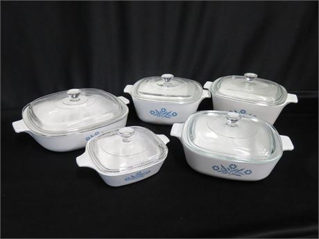 5-Piece Corning Ware Blue Cornflower Cookware Set