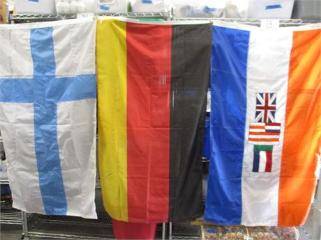 LOT OF 3 FLAGS - INCLUDING GERMANY