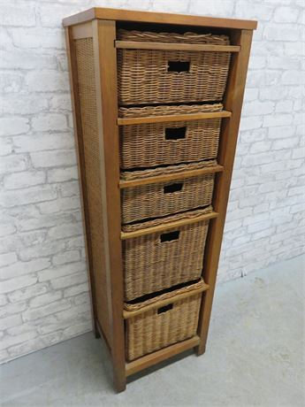 Wicker Basket Storage Chest