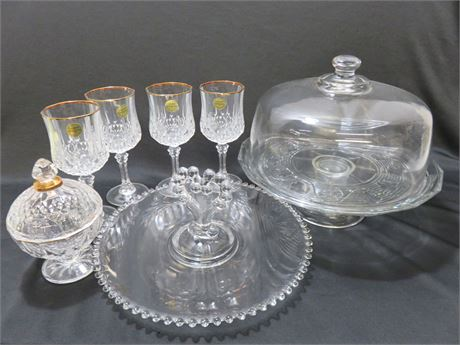 Assorted Crystal/Glassware Lot
