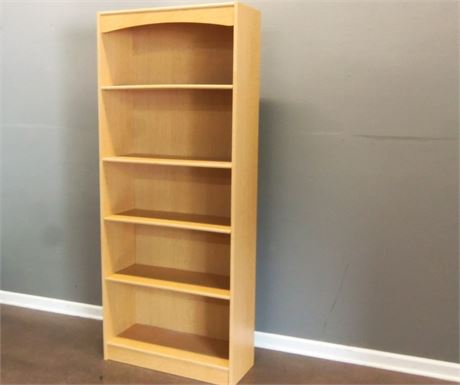 Light Wood Veneer Book/Display Case