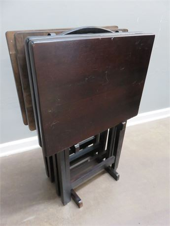 Wooden TV Table Set
