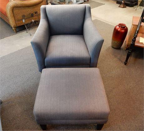 Grey Chair and Ottoman