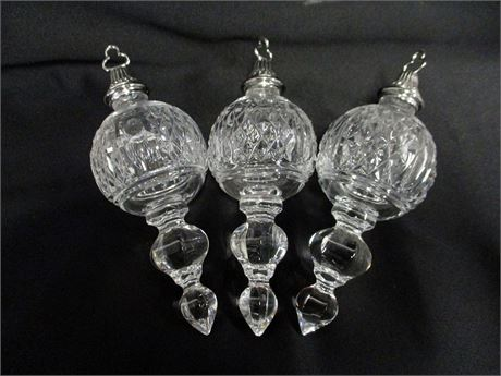 LOT OF 3 WATERFORD CRYSTAL ORNAMENTS