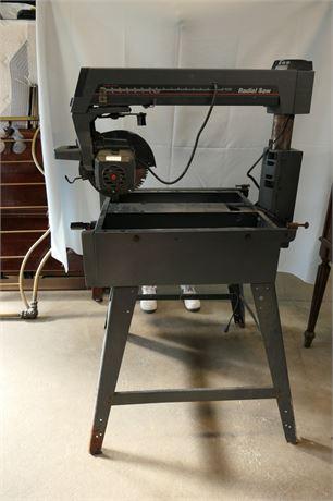 1989 Craftsman 113.197110 10-inch Radial Arm Saw with Leg Set