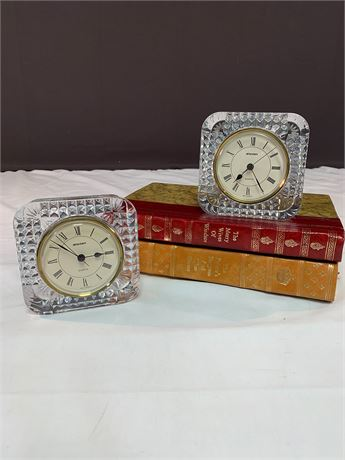 Lot of 2 Staiger Glass Quartz Clocks