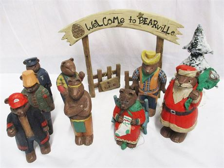 BEAR FIGURINES FOR BEARVILLE