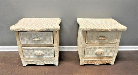 Pier One Imports Wicker Rattan Night Stands