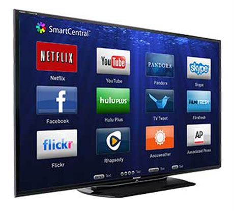 "SHARP Aquos 60"" 1080p LED Smart TV with Remote"