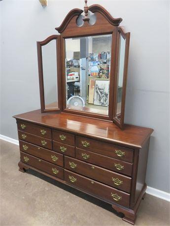COCHRANE Chippendale Style Dresser & Mirror