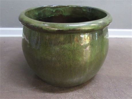 Large Green Ceramic Planter