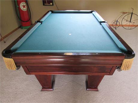 Brunswick Ventura 8' Slate Billiard Table with Accessories - LATE ADDITION!!!