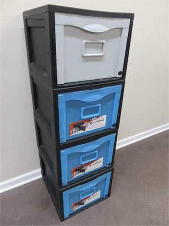 Set of 4 DR. BYTE Stackable File Drawers